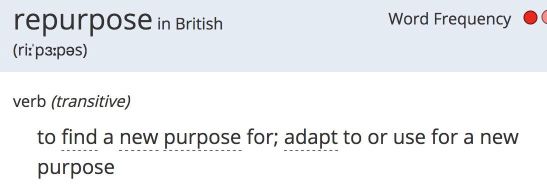 repurpose definition