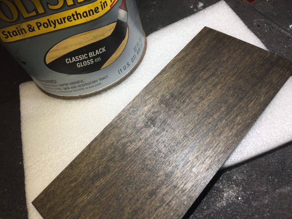 basswood veneer stained