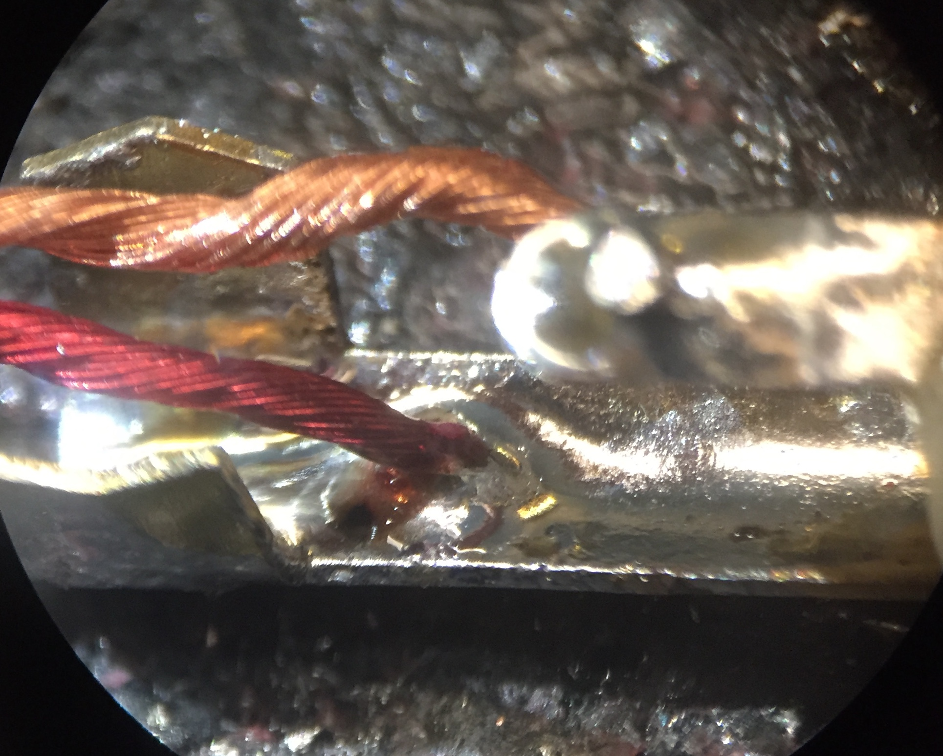 cleaned up solder points