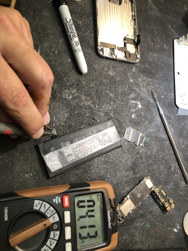 over voltage on this iphone 6 battery